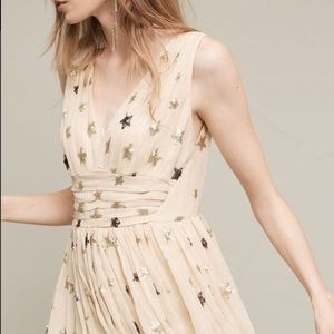 Anthropologie Sequined Star Dress NWOT Size 2